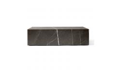 Plinth Sofabord Low Brun Marmor - Menu