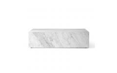 Plinth Sofabord Low Hvid Marmor - Menu